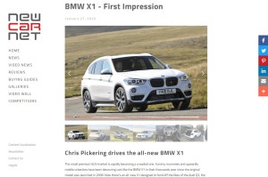 BMW X1 review, NEWCARNET January 2016