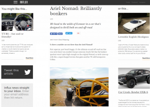 Ariel Nomad feature by Chris Pickering