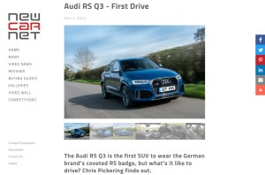 Audi RS Q3 review by Chris Pickering